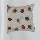 Embroided Bug cushion