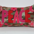 Embroided Peace Cushion