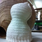Knitted Porcelain Pot